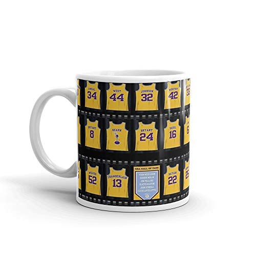 Lebron James Los Angeles Lakers 11 Oz White Ceramic
