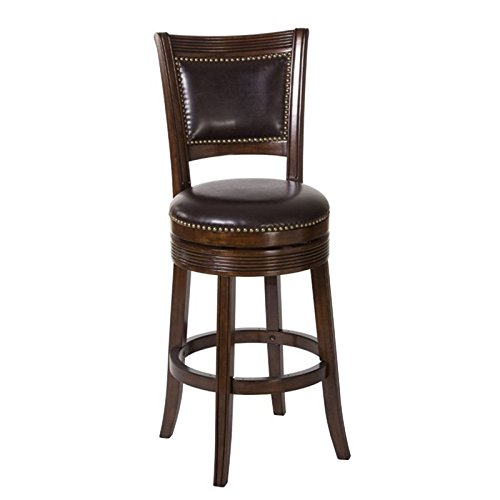Swivel Counter Stool in Brown Cherry Finish