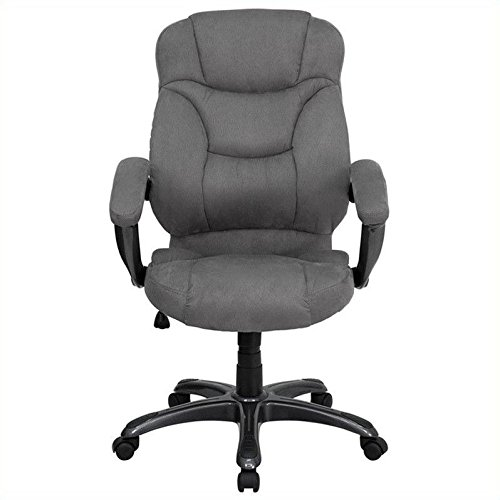 Flash Furniture GO-725-GY-GG High Back Gray Microfiber Upholstered Contemporary Office (Contemporary Task Chair)
