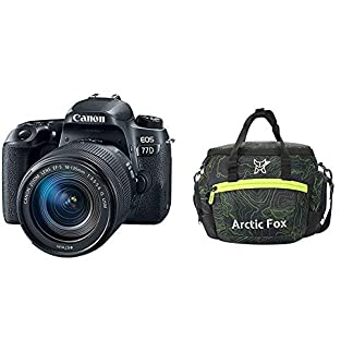 Canon EOS 77D 24.2MP Digital SLR Camera + EF-S 18-135 mm 3.5-5.6 is USM Lens + Arctic Fox Sling Shutter Topography… 13