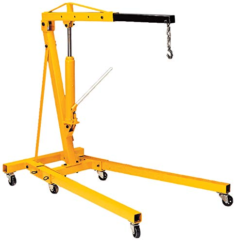 Performance Tool W41029 2 Ton Folding Hydraulic Engine Hoist Cherry Picker Shop Crane Hoist ()