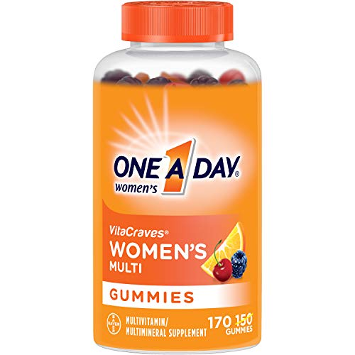 One A Day Women's VitaCraves Multivitamin Gummies, Supplement with Vitamins A, C, E, B6, B12, Calcium, and Vitamin D, 170 Count (Best Gummy Vitamins For Women)