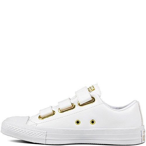 CTAS Synthetic White 3v Taylor Chuck de Converse Fitness Chaussures Femme 102 White Gold Ox Blanc xwPXEqS