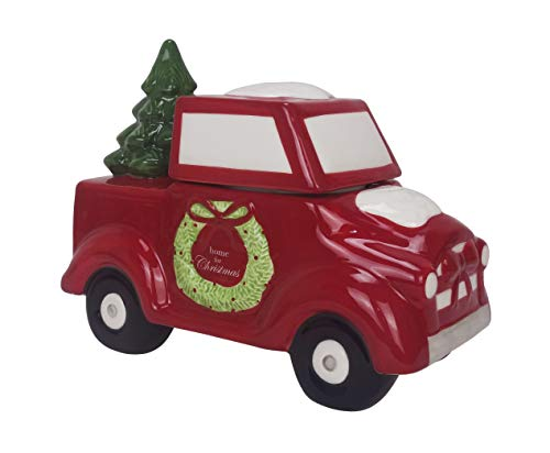 ReLive Ceramic Red Truck Cookie Jar 10.25 x 8 Inch ()