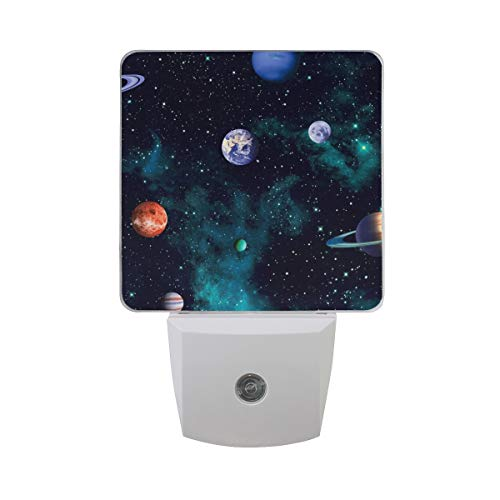 Pattern Earth Light Neutral (Night Light Space Pattern Planets Earth Led Light Lamp for Hallway, Kitchen, Bathroom, Bedroom, Stairs, DaylightWhite, Bedroom, Compact)