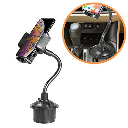 Cup Holder Phone Mount/Universal Hands Free Mobile/Cell Phone Holder for Car/iPhone X car Mount Compatible with iPhone 8/8 Plus, 7 / 7plus, 6s, 5, Samsung (BB015)