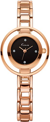 Women's Rose Gold Bracelet Watches - VOEONS Ladies Watch, Analog Quartz Watch for Women