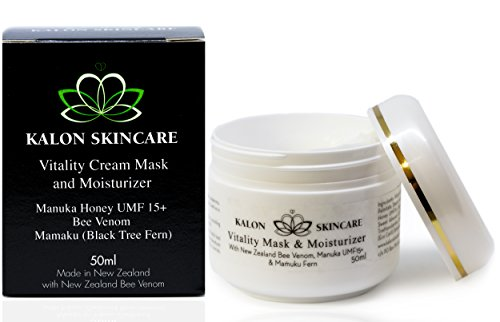 Kalon Skincare, Facial Cream Mask and Moisturizer, with New Zealand Bee Venom and UMF 15+ Manuka Honey Skin Care, 50ml (1.7oz)