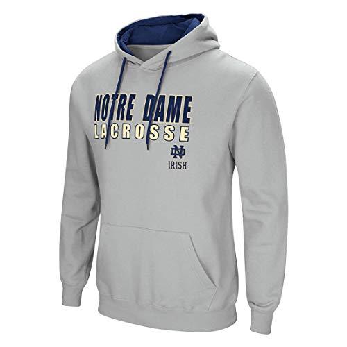 (Notre Dame Fighting Irish Lacrosse Hoodie-Adult-Small Gray)