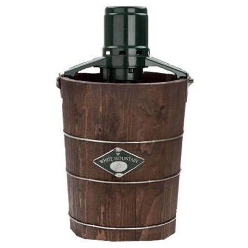 White Mountain PBWMIME412-SHP Appalachian Series Wooden Bucket 4-Quart Electric Ice Cream Maker (Wood Bucket Ice Cream Maker)