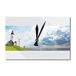 Lantern Press Panorama of Lighthouse on Former Island Urk, The Netherlands 9018913 (Acrylic Wall Clock)