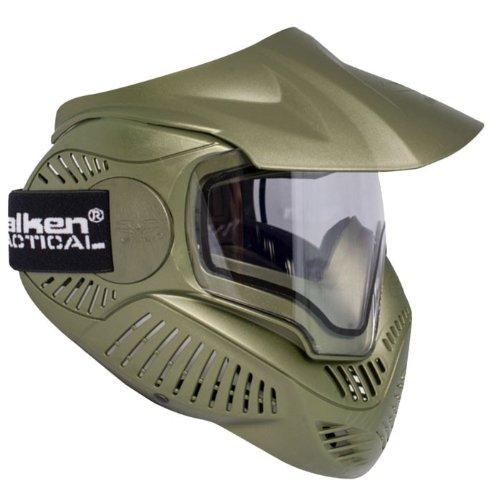 Valken MI-7 Olive Masque de Paintball Mixte Adulte, Vert
