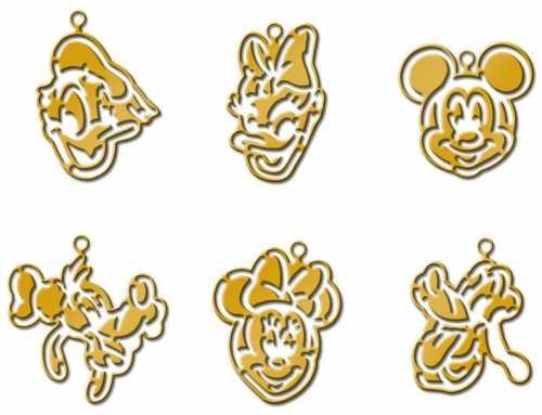 Plaid Disney Mini Brass Stencil, Mickey and (Stencils Disney)