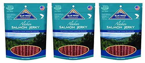(3 Pack) Blue Ridge Naturals Oven Baked Salmon Jerky Dog Treats, 3 Pounds Total - Alaskan Salmon Treats