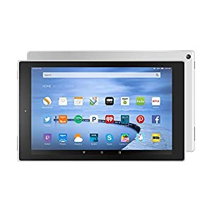 """Certified Refurbished Fire HD 10 Tablet, 10.1"""" HD Display, Wi-Fi, 32 GB - Includes Special Offers, White (Previous Generation - 5th) by Amazon"""