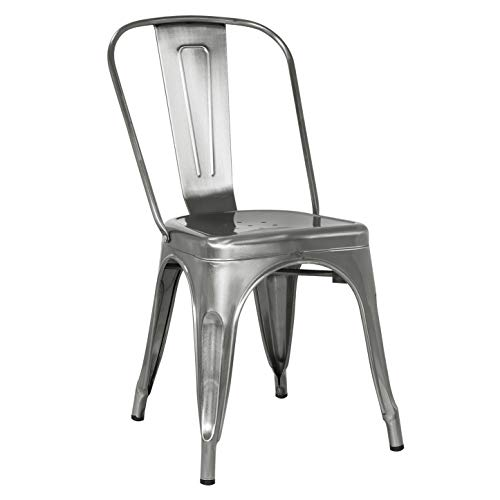 Poly and Bark Trattoria Side Chair in Polished Gunmetal