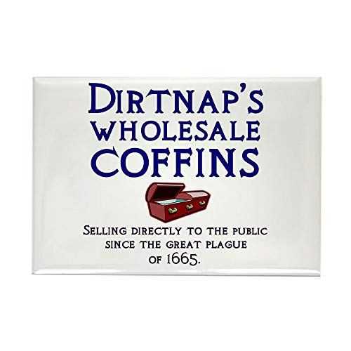 (CafePress Dirtnap's Wholesale Coffins Rectangle Magnet, 2