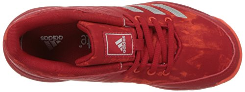 Pictures of adidas Unisex Ligra 5 K Tennis Shoe BY1859 Scarlet/Energy/Metallic Silver 2
