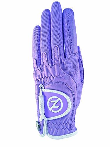 (Zero Friction Female Ladies Cabretta Elite, Left Hand, Lavender, One)