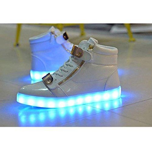 [+Kleines Handtuch]Kinderschuhe USB Lade Licht Jungen emittierende Schuhmädchenschuh leuchtende LED beleuchtete Sportschuhe großer Junge Sc c24