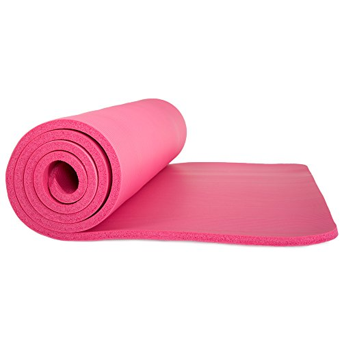 Sleeping Pad, Lightweight Non Slip Foam Mat with Carry Strap by Wakeman Outdoors (Thick Mattress for Camping, Hiking, Yoga and Backpacking) (Pink)