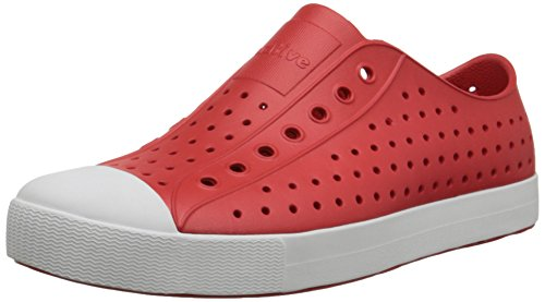 Native Unisex Jefferson Fashion Sneaker Fakkel Rood / Schelp Wit