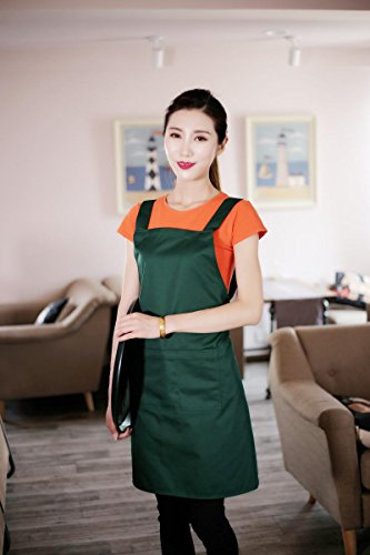 Apron With Front Pocket (Blackish Green) - 2