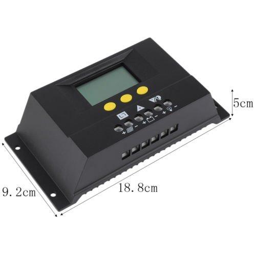 Alicenter(TM) 30A Solar Regulator Solar Charge Controller 12-24V/48V LCD Solar Genetator