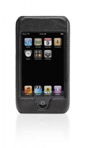 Griffin Elan Form Leather Hard Case for iPod Touch (Black)