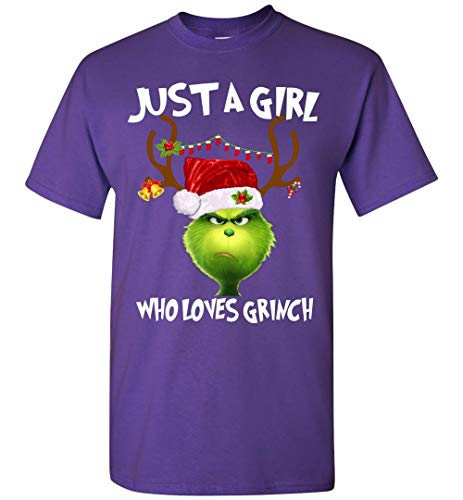 Grinches Shirt - Just A Girl Who Loves Grinch-T-Shirt Adult and Youth Size