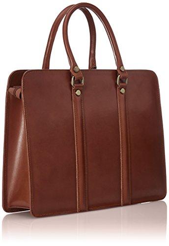 cuir Organisateur CTM Made de in Italy véritable hommes Marron 100 sac Marrone des 38x27x9cm document travail RRYfS8n