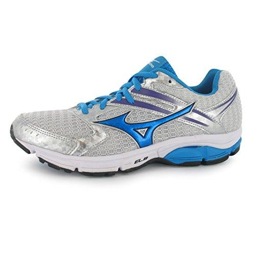 Mizuno Wave Valiant Running Shoes Damen silberfarben/Blau Turnschuhe Sneakers Sport Schuh