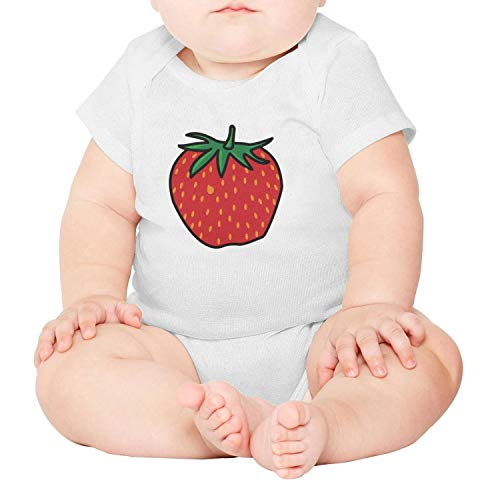 voslin Strawberry Cartoon Baby Unisex Short Sleeve Cotton Funny -