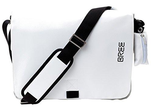 BREE - Bolso al hombro para hombre multicolor negro/blanco 38 cm x 28 cm x 8 cm (B x H x T) negro/blanco