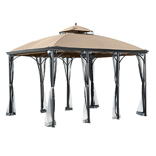 Garden Winds Replacement Canopy for the Big Lots Somerset Gazebo - 350