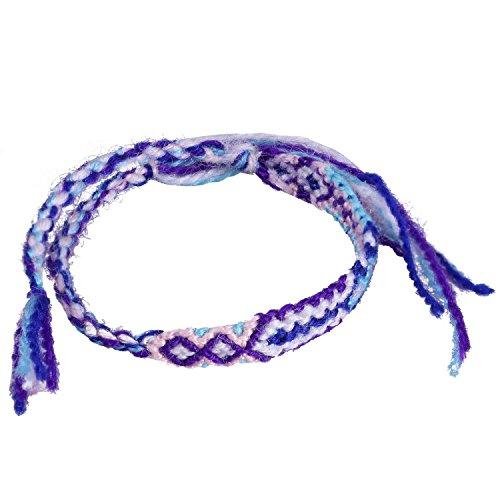 KELITCH Boho Multicolor Handmade Woven Braided Friendship Bracelet - (Woven Friendship Bracelet)