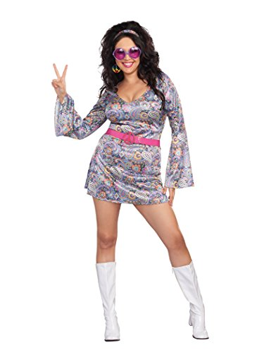 [Dreamgirl Women's Plus-Size Love-Fest Costume, Multi, 3X/4X] (Plus Size Womens Halloween Costumes 2016)