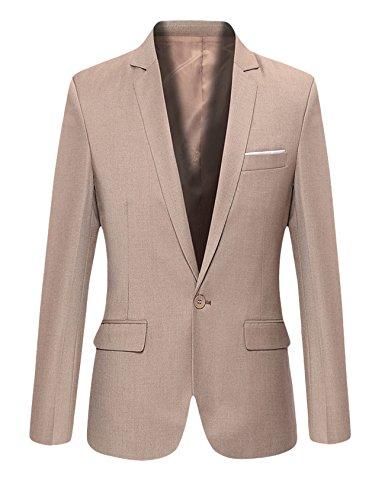 Bouton D`affaire Kaki Manteaux Costume Homme Un Slim Letuwj Fit vAqwB4R