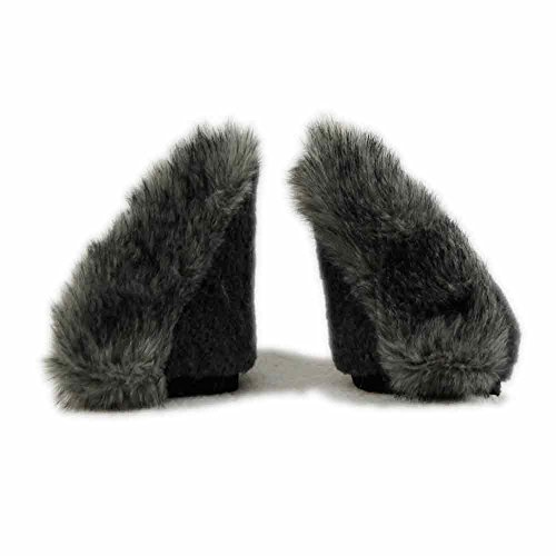 Pawstar Wolf Necomimi Furry Covers Replacements Sleeves Only - Grey - http://coolthings.us