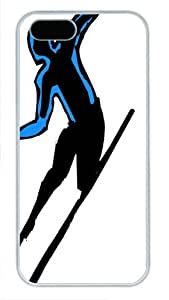 Beautiful Type White Pc For SamSung Galaxy S4 Phone Case Cover - Interesting Skiing - Work Hard