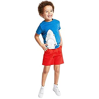 pitaya Red & Blue Round Neck Two Pieces Wear For Boys