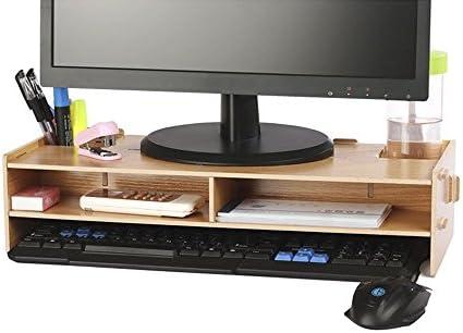 crayfomo-Soporte para monitor de madera, para TV, PC, ordenador ...