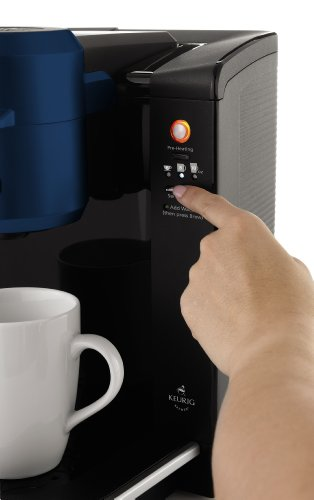 Mr. Coffee BVMC-KG6BL-001 Single Serve Coffee Brewer Powered by Keurig Brewing Technology, Blue ...