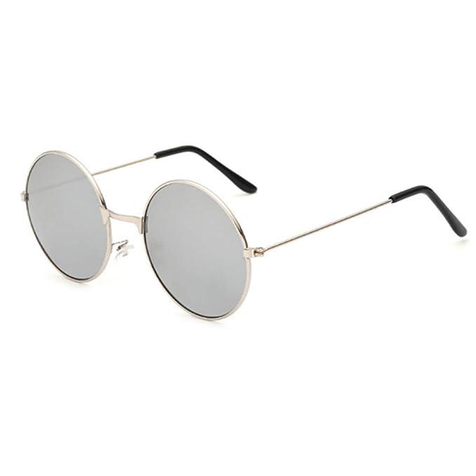 Amazon.com : YLNJYJ Gafas De Sol Redondas Del Marco Del ...