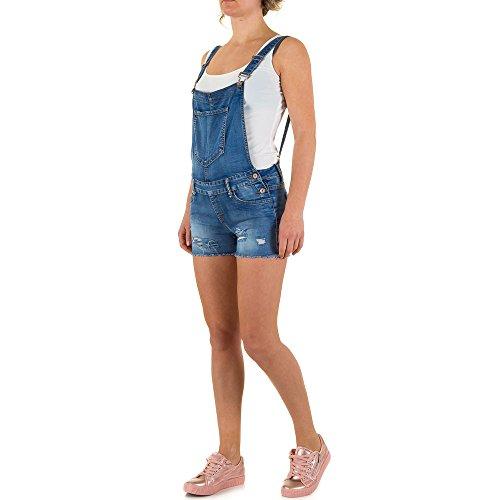 Destroyed Jeans Latz Shorts Für Damen , Blau In Gr. 42 bei Ital-Design