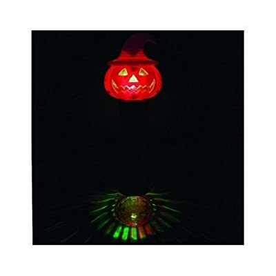 Glow In Dark Wand Light Up Party Flashing Orange Pumpkin Night Kids Toy: Toys & Games