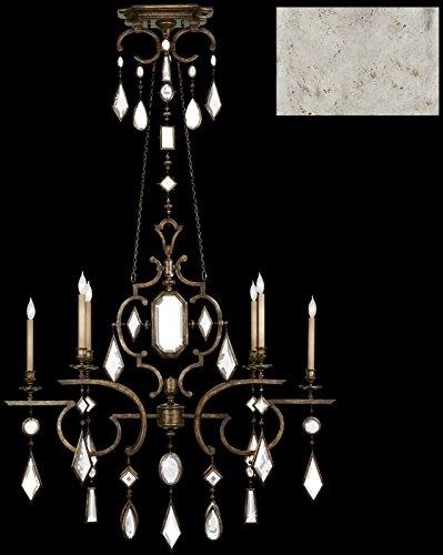 - Fine Art Lamps 725940-3, Encased Gems Crystal Chandelier Light, 120 Watt, Silver Leaf