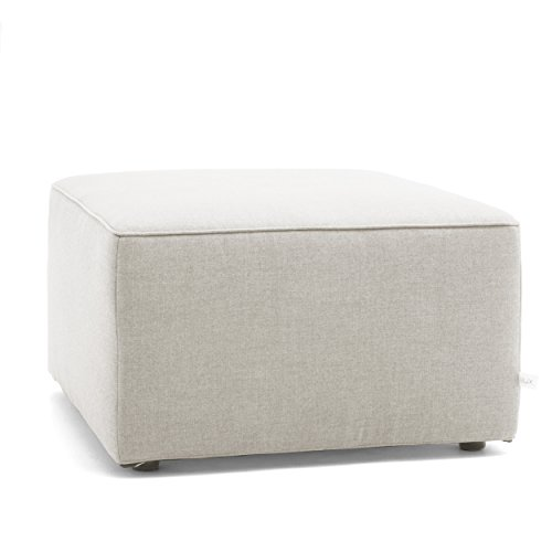 Big Joe Lux Indoor/Outdoor Modular Collection, Ottoman, Cast Silver Sunbrella