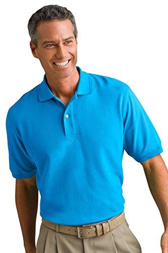 (Vantage Men's Vansport Double-Tuck Pique Cotton Polyester Polo Shirt, Carolina Blue, 5XL)