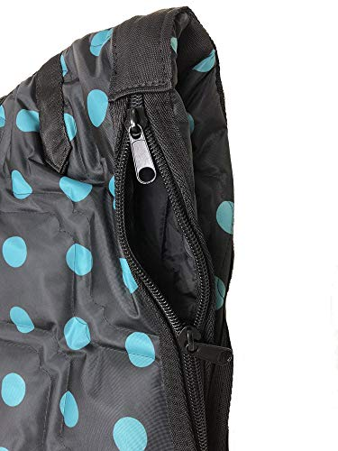 AJ Tack English Horse Saddle Carrier Bridle Bag Set All Purpose Saddle Turquoise Dots by AJ Tack (Image #3)